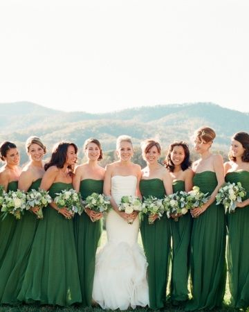 Olive green and gold bridesmaid dresses 2017